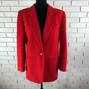 Talbots Women's Red Peacoat Jacket Size Medium